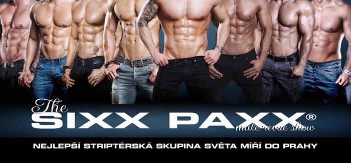 SIXX PAXX® live – Evropská špička v pánském striptýzu v Praze